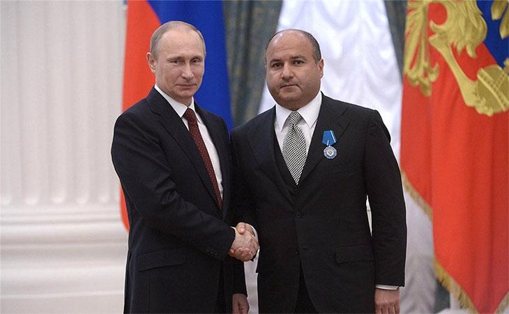 Георгий Беджамов с Путиным